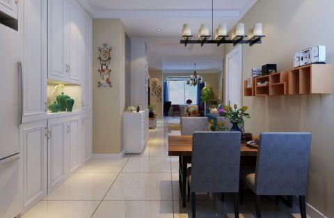 餐厅米色背景墙简约风格装潢设计图片