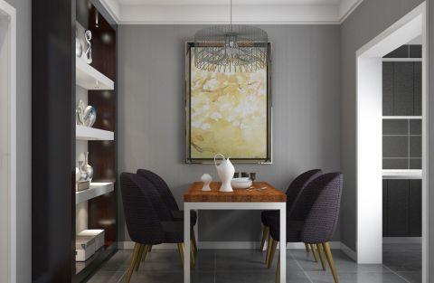 书房灰色背景墙简约风格装潢设计图片