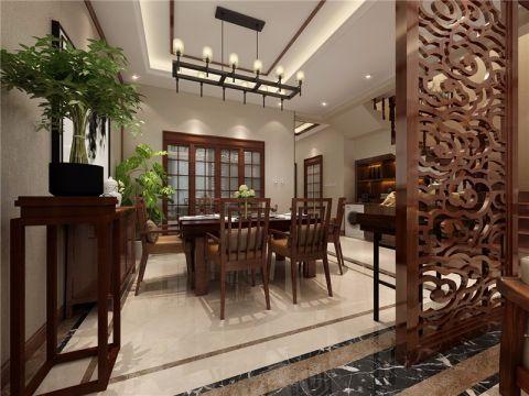 餐厅白色吊顶中式风格装潢图片