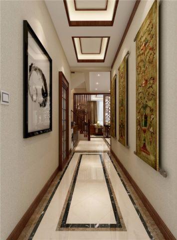 玄关米色照片墙中式风格装修设计图片
