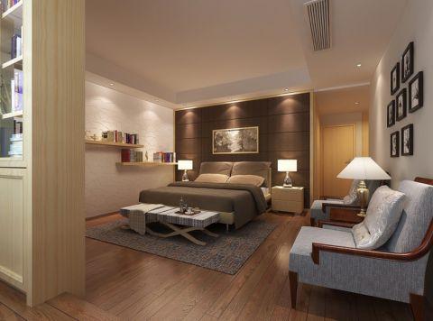 卧室黄色床头柜现代简约风格装潢效果图