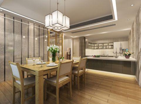 餐厅黄色餐桌现代简约风格装修图片