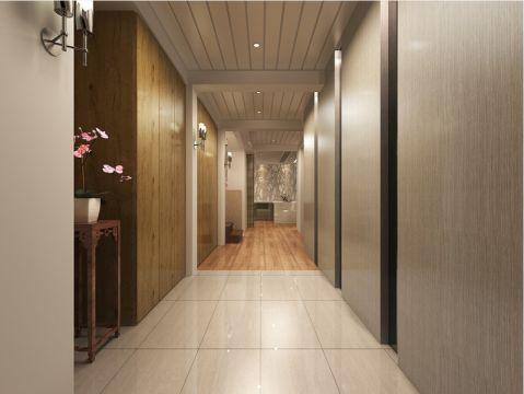 玄关白色地砖现代简约风格装潢图片