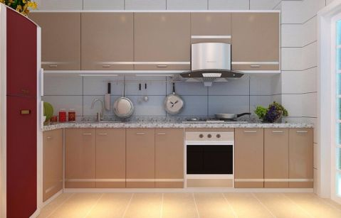 唯美厨房背景墙装修案例效果图