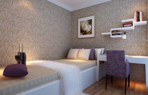卧室彩色背景墙效果图图片