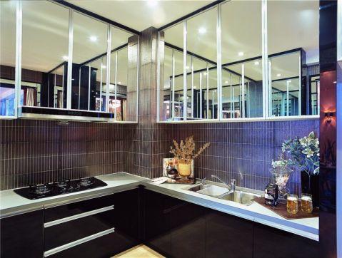 新古典厨房背景墙装潢实景图片