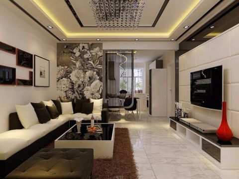 客厅照片墙现代平面图