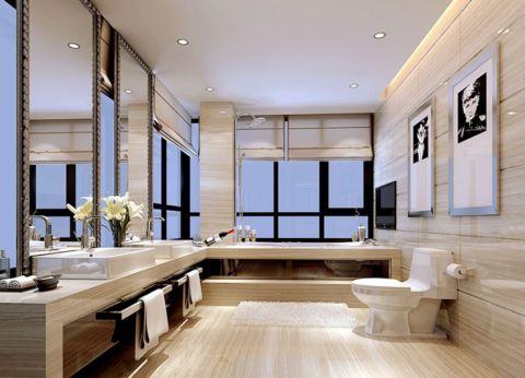 简约卫生间背景墙家装设计图