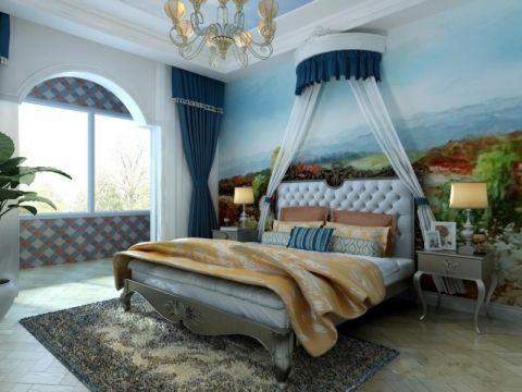 卧室背景墙地中海装饰图片
