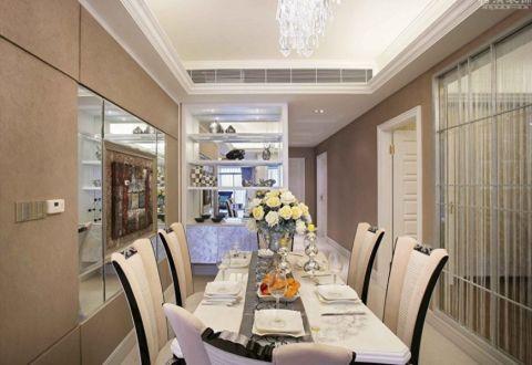 最新欧式白色餐桌装修方案