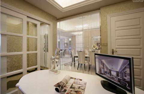 书房白色书桌欧式风格装饰图片