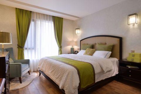 2018美式卧室装修设计图片 2018美式窗帘装修图