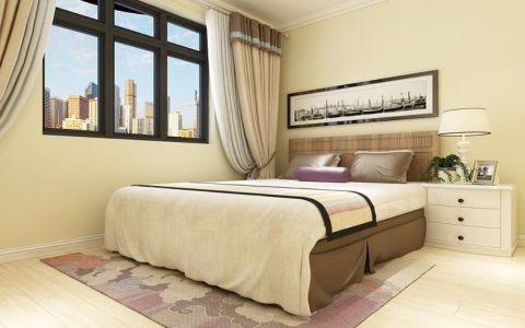 卧室米色背景墙简约风格装修效果图