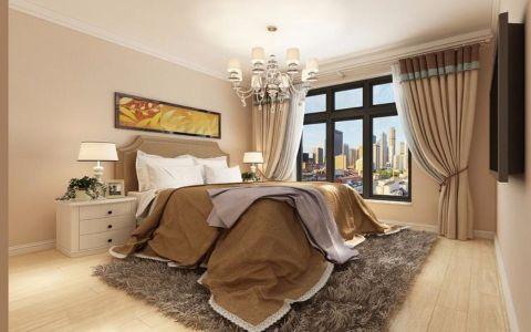 卧室米色吊顶简约风格装饰效果图