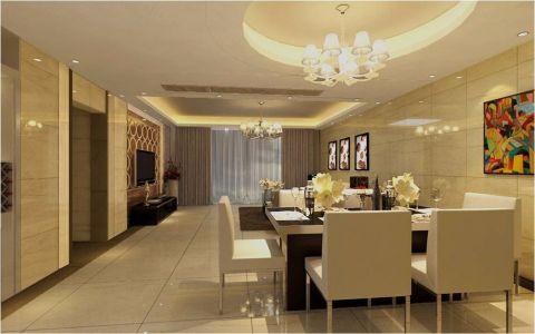 餐厅米色吊顶简约风格装修效果图