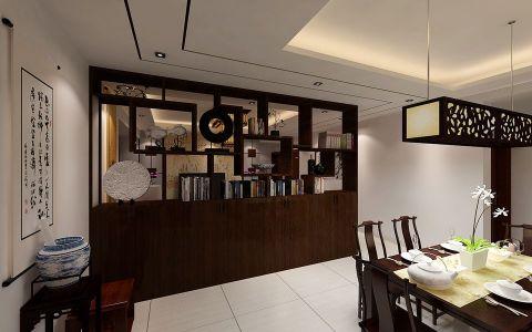 餐厅白色地砖中式风格效果图