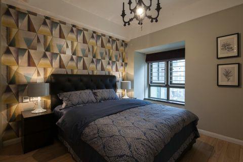 卧室彩色背景墙现代风格装修效果图
