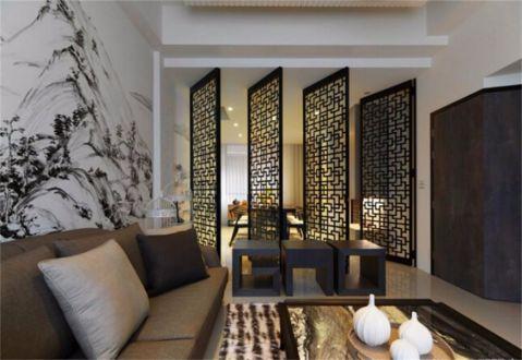 客厅隔断新中式设计图片