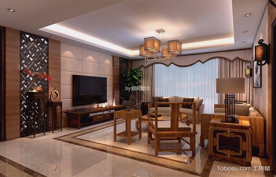 乐水居新中式四居室效果图