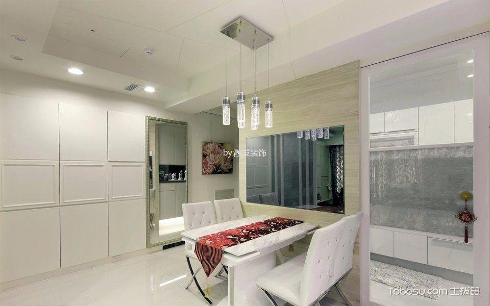 奢华大气白色餐桌装饰设计图片