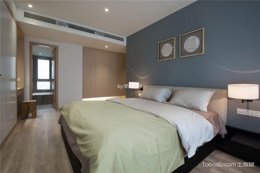 卧室灰色床现代风格装潢效果图