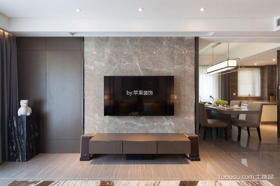 2018混搭客厅装修设计 2018混搭电视柜装修效果图片