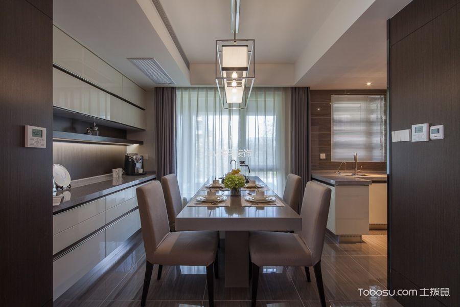 餐厅灰色窗帘混搭风格装潢效果图