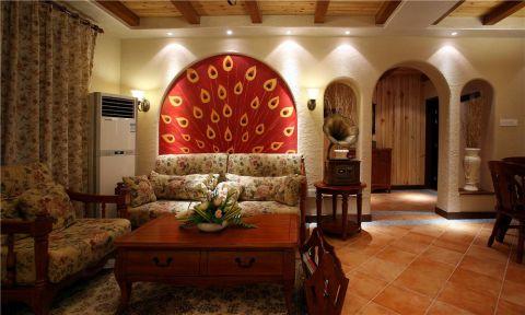 地中海客厅背景墙装修