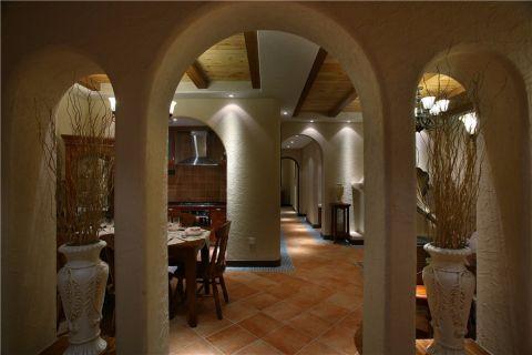 奢华米色餐厅装潢图