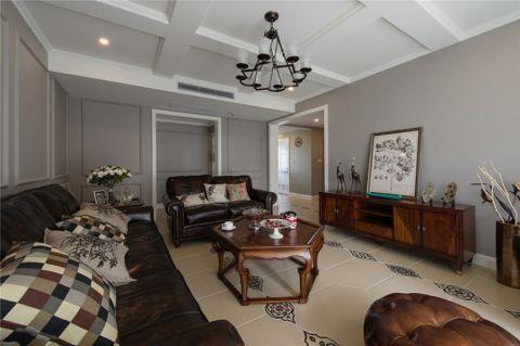 客厅吊顶美式案例图