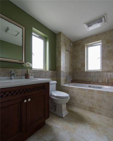 极致绿色卫生间装修案例图片