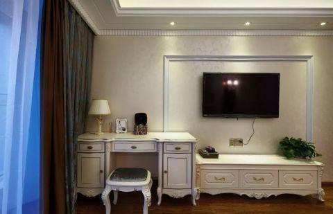 卧室白色电视柜欧式风格装饰设计图片