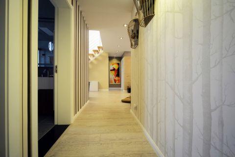 玄关黄色走廊混搭风格装潢设计图片