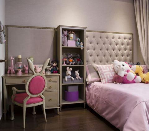 纯净儿童房背景墙装饰实景图片