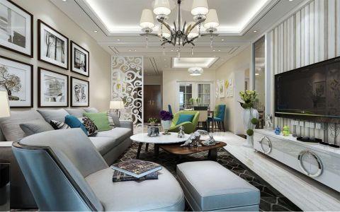 2018现代简约客厅装修设计 2018现代简约照片墙装修效果图大全