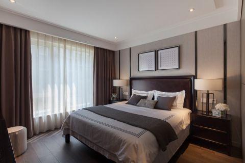 卧室咖啡色床混搭风格装饰图片