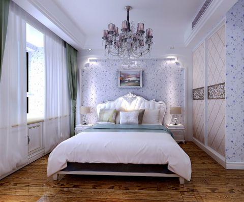 儿童房白色背景墙欧式风格装饰图片