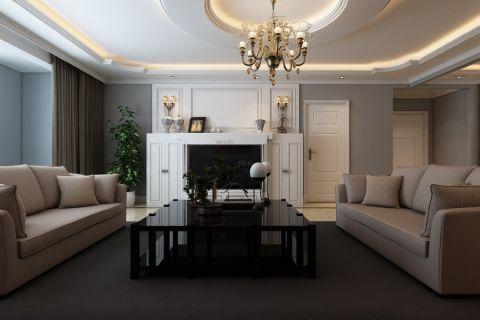 豪华灰色客厅设计图