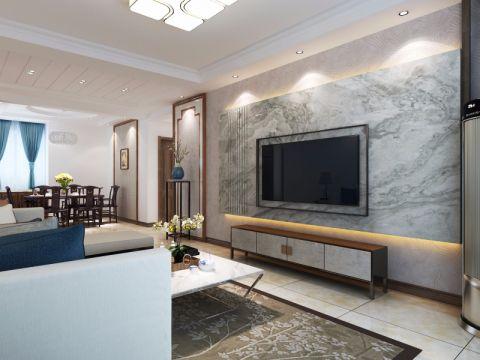 沉稳客厅中式装饰设计