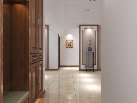 真实中式米色走廊装修效果图