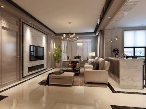 现代简约客厅背景墙装饰效果图