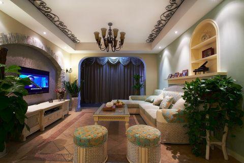 奢华客厅背景墙装修方案