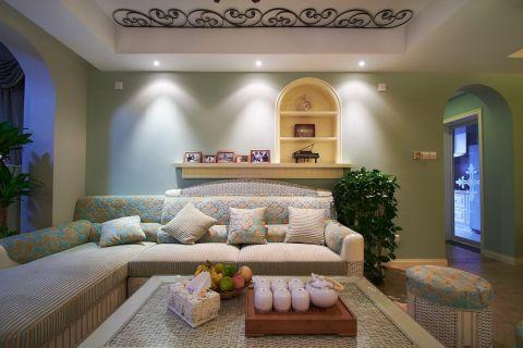 客厅背景墙混搭装修设计图片
