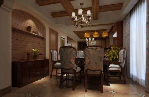 典雅餐厅窗帘设计