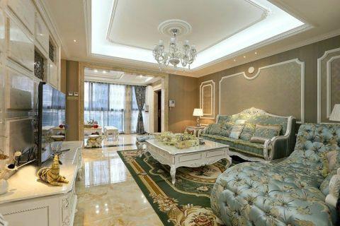 客厅白色茶几装潢效果图
