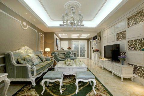 客厅沙发欧式装潢实景图