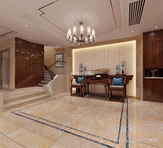 玄关白色门厅新中式风格装修效果图