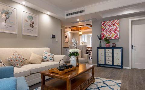 世纪华庭二居室98平米现代效果图