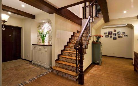 玄关楼梯美式风格装潢图片