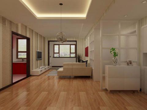 客厅推拉门简约风格装修设计图片